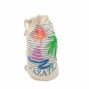 Retro Mazatlan Drawstring Backpack